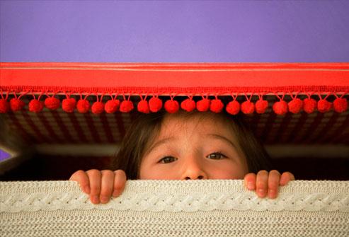 hiding kid
